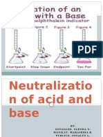 Neutralization of Acid and Base