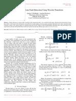 Transmission Line Fault Detection Using Wavelet Transform