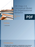 Conceptual Model for Organizational Behaviour
