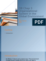Organizational System in the Global Environment