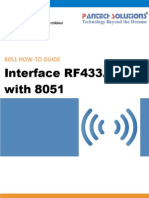 RF433.92MHz Interfacing With 8051