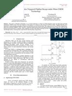 An Area Efficient Pulse Triggered Flipflop Design Under 90nm CMOS Technology