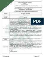 Diseño Curricular Del Programa Identificación de Ideas y Oportunidades de Negocios - 12210514