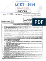EdCET 2014 Biological Studies Question Paper with Answers