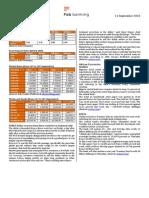 Weekly Market Update 21thSept