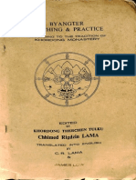 Byangter Teaching and Practice According to the Tradition of Khordong Monastery - C.R. Lama