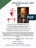 Bruce Springsteen fan-jam-i Fair Play