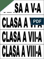 Etichete Clase v-Viii