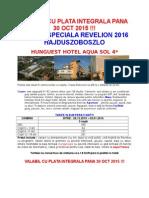 Oferta Speciala Revelion - h.aqua Sol - Hajduszoboszlo