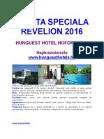 Oferta Speciala Revelion-hotel Hoforras - Hajduszoboszlo