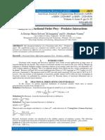 Analysis of Fractional Order Prey - Predator Interactions
