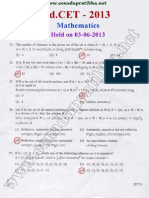 EDCET 2013 Mathematics Question Paper with Key Download