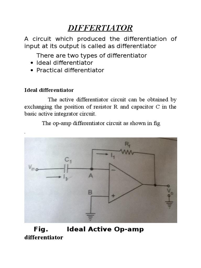 entc | Operational Amplifier | Electronics