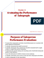 M11p - Evaluating the Performance of Salespeople