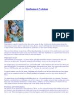 Significance of Pradosham