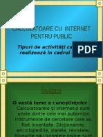 Calculatoare Cu Internet Pentru Public 2013
