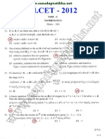 EDCET (B.Ed) 2012 Maths Question Paper & Key Download