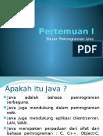 Pertemuan I - Java