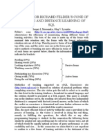 Felder Cone of Learning and Distance Learning of SQL