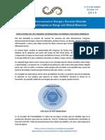 Conclusiones del XIII Congreso Internacional en Energía y Recursos Minerales