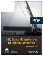 2012 Standard Specification for Highway Construction Vol 1