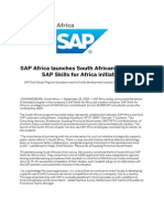SAP Africa Launches South African Chapter of SAP Skills for Africa Initiative