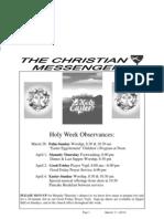 Holy Week Observances: