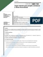 NBR 07189 - 1985 - Cargas Moveis Para Projeto Estrutural de Obras Ferroviarias