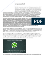 Whatsapp messenger para androd