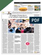 El Papa Francisco y La Salud Espiritual