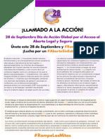 Llamado a la Acción Campaña 28 de Septiembre