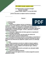 Act din 11/12/200. Codul tehnic al reţelelor electrice de distribuţie