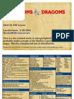 Dd5e Dm Screen a4