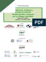 Ambiente, energia, alimentazione - Modelli giuridici comparati per lo sviluppo sostenibile