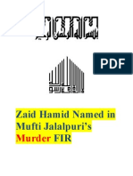 Zaid Hamid Nominated in FIR Launched in Mufti Jalalpuris Murder Case