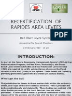 Recertification of Rapides Area Levees