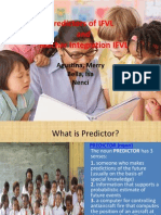 Predictors of IFVL presentation f