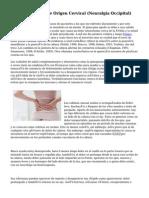 Dolor De Cabeza De Origen Cervical (Neuralgia Occipital)