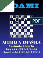 18- Apertura Española Variante Abierta