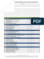 Construction Contractor Weekly Safety Inspection Checklist