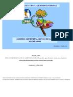 Normas Microbiológicas de Los Alimentos (Enero 2015)