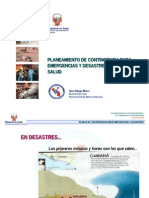 23 Planeamiento Contingencia Emergencias Desastres Sector Salud