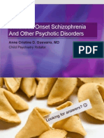 Childhood Onset Schizophrenia and Other Psychotic Disorders