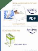 Catálogo de guantes para clínicas. Estériles, de vinilo, nitrilo y látex