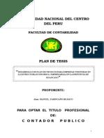 Proyecto de Tesis, Finanzas