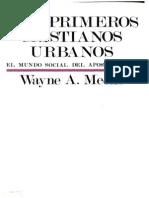 Los Primeros Cristianos Urbanos_ El Mundo Social Del Apostol Pablo-Ediciones Sigueme (1988)