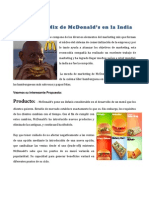 Marketing Mix de McDonald's en La India