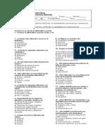 Evaluacion Ciencias Naturales Tercero Basico