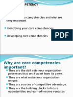 Core Competency Presentation-strategic management