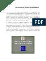 La Declaración de Los Derechos Del Hombre y de Los Ciudadanos